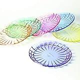 7 3/4'' Premium Salad or Bread Plates - Set of 6 - Unbreakable Tritan Plastic - BPA Free - 100% Made in Japan (Assorted Colors)