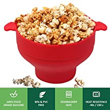 Microwave Popcorn Maker, Grand Oasis Popcorn Popper Corn Popper Fast and excellent Red