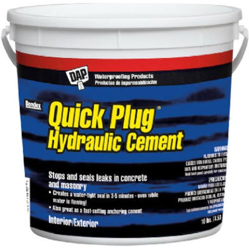 Dap 14090 10 Lb Pail Quick Plug Hydraulic & Anchoring Cement
