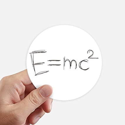 Amazon.com: DIYthinker Relativity Physical Science Formula Calculus Round Stickers 10cm Wall Suitcase Laptop Motobike Decal 8pcs: Home & Kitchen