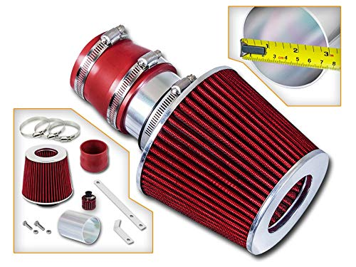 Rtunes Racing Short Ram Air Intake Kit + Filter Combo RED For 99-04 Volkswagen Golf/Jetta / GTI (1.8T / 2.0L / VR6)