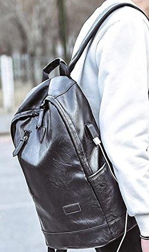 La moda de hombre de estudiante mochila Bolsa Bolsa USB externo External USB