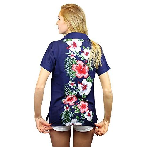 29aa4f70 good Funky Hawaiian Blouse Women Short-Sleeve Front-Pocket Wedding Flowers  Multiple Colors