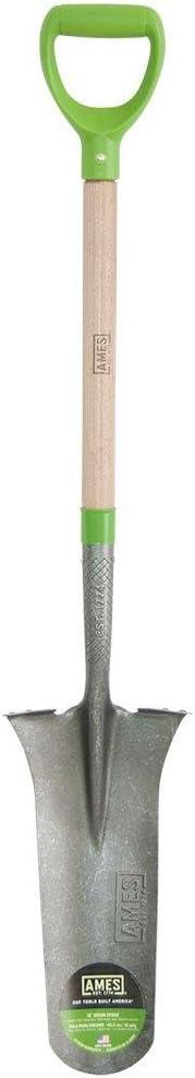 AMES 2531700 Steel Drain Spade with Hardwood Handle, 47-Inch