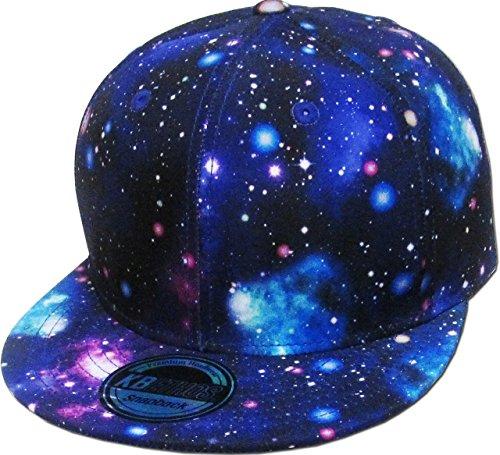 KNW-1469ALL-GX PUR Galaxy Print Brim Snapback Hat Cap