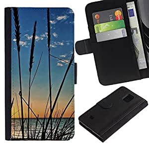 JackGot ( Natura Coltivazioni Beach ) Samsung Galaxy S5 Mini (Not S5), SM-G800 la tarjeta de Crédito Slots PU Funda de cuero Monedero caso cubierta de piel
