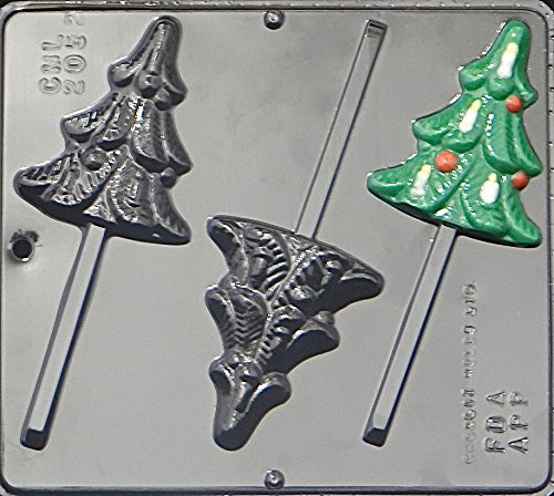 Christmas Tree Lollipop Lollipops Chocolate Candy Mold Christmas 2052