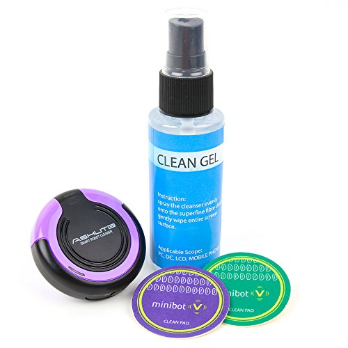 Price comparison product image DURAGADGET LCD/LED Screen Cleaning Robot with Cleaning Solution and Vibrating Microfibre Pad in Purple - Compatible with The New Sinclair ZX Spectrum Vega Plus Console