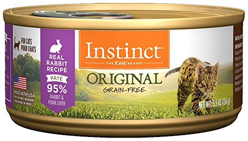 Instinct Original Grain Free Real Rabbit Recipe Natural Wet Canned Cat Food by Nature's Variety, 5.5 oz. Cans (Case of 12)