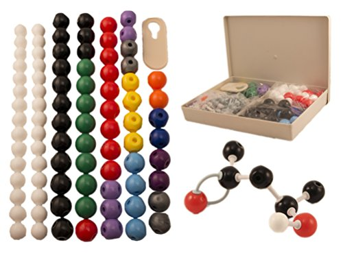 Basic Model Atom - Molecular Model Kit for Organic & Inorganic Chemistry - 86 Atoms & 153 Bonds (239 Total Pieces) by University Chemistry Co.