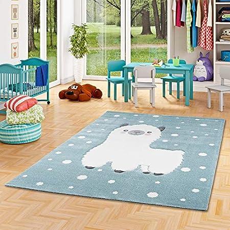 Maui Kids Tapis pour Enfant 5 Tailles Disponibles Motif Animaux dr/ôle cr/ème Multicolore