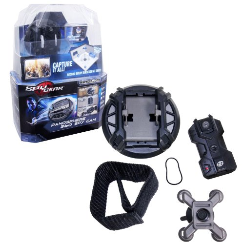 Spin Master Spy Gear Special Ops Series Detective Kit – PANOSPHERE 360 SPY CAM with 1 Camera Module, 1 Tactical Disk Housing, 1 Arm Band, 1 Suction Cup Bracket, 1 USB Charge/Data Cable and 1 Instruction Sheet (Laptop is not Included)