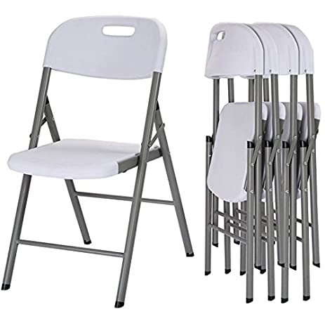 Quality Chairs   Commercial Heavy Duty Folding Chairs   Set Of 4   Durable  Steel Frame