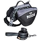 DogHelios Freestyle 3-in-1 Explorer Sporty Fashion Convertible Pet Dog Backpack, Harness and Leash, Medium, Black