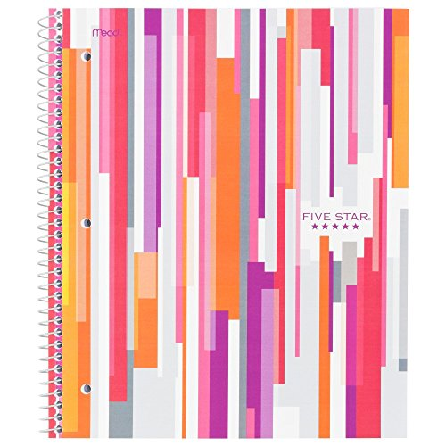 Five Star Style Spiral Notebook,  1 Subject, College Ruled, 11 in.x 8.5 in., Berry (73129)
