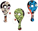 Monster Eyeball Catch Paddleball Games/1 DOZEN/Halloween/Wood