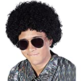 Fluffy Afro Synthetic Clown Wig for Men Women Cosplay Anime Party Christmas Halloween Fancy Funny Wigs (Black)