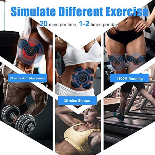 ROKOO Ultimate Abs Stimulator Muscle Stimulator Equipment for Men Women at Home Gym Office Travel 5