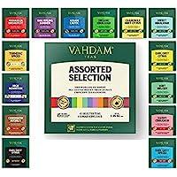 VAHDAM, Surtido de Mejores Tés | 15 Bolsitas Diferentes – Pack Variado para Regalar a Mamá | Té Negro, Verde, Oolong…