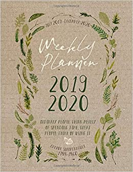 Amazon.com: 2019-2020: Botanical Planner 18 Month Weekly ...