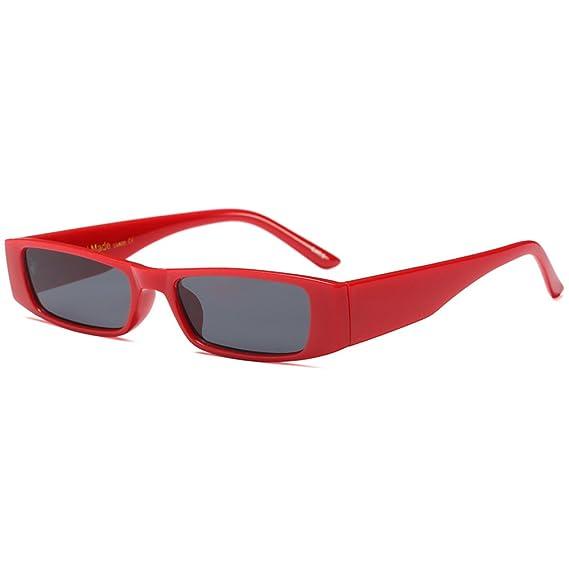 a16824245d Vintage Gafas de sol Extremo delgado pequeña Lente Gafas de sol  rectangulares coloreadas