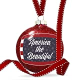 Christmas Decoration America the Beautiful Fourth of July Stars and Stripes Ornament