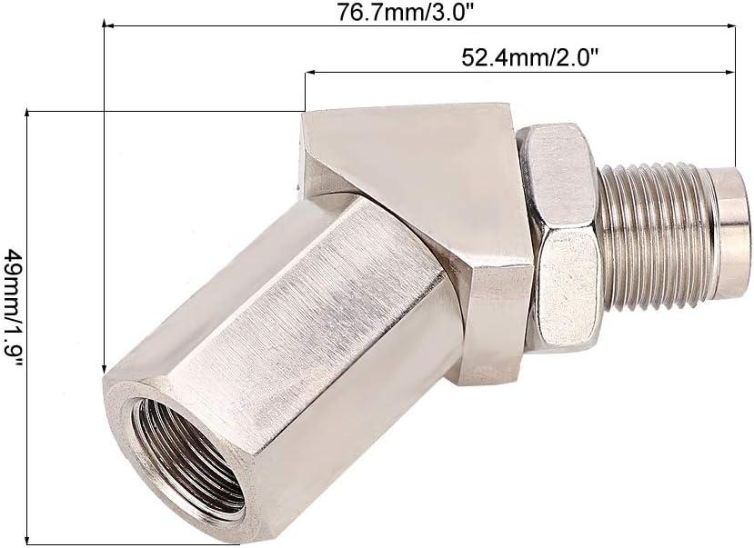 rallonge adaptateur adaptateur de sonde /à oxyg/ène 135 degr/és M18x1.5 Iron Auto Universel Entretoise Extension de sonde /à oxyg/ène KIMISS