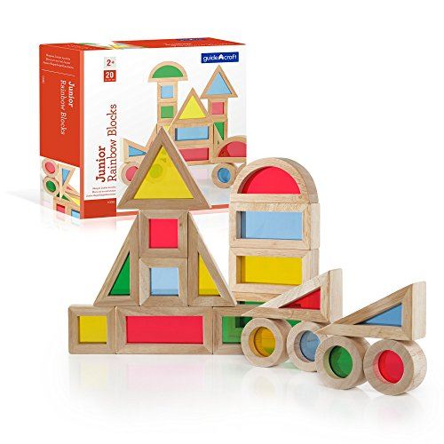 Guidecraft Jr. Rainbow Blocks 20 Piece Set