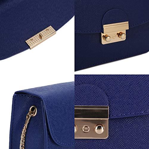 Azul Crossbody Bolso para Azul Mano Hombro Casual de de pequeña Señoras de PU de Bandolera niñas Cuero de Bolso Moda Mujer Bolso RAwc5pqa