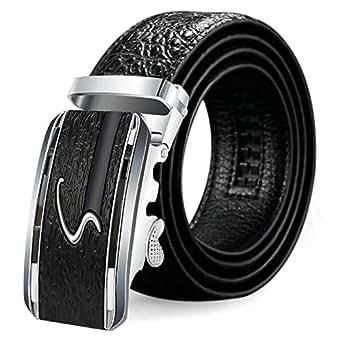 Aooaz Daily Belt Women's Pu Leather Waist Cinch Belt With Automatic Buckle Braided Stretch Elastic Belt Black 110
