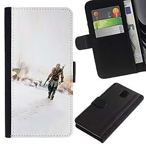 // PHONE CASE GIFT // Moda Estuche Funda de Cuero Billetera Tarjeta de crédito dinero bolsa Cubierta de proteccion Caso Samsung Galaxy Note 3 III / Assassins /