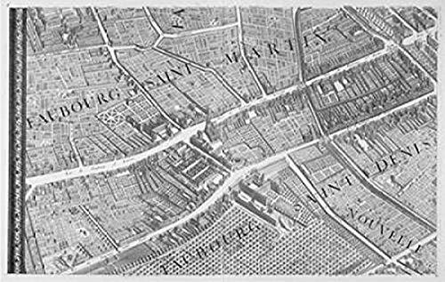 Posterazzi PDXMET13LARGE Paris 1739 Sectional map Poster Print by Michel-Etienne Turgot 24 x 36