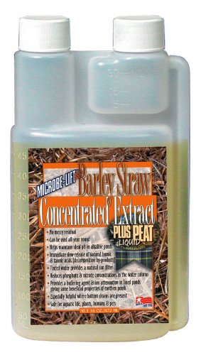Microbe Lift Barley Straw (Microbe Lift 16-Ounce Pond Barley Straw Concentrate Plus Peat Extract Concentrate B6)