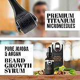 Derma Roller for Beard Growth - Beard Growth Serum, Beard Kit for Men - Micro Needle Roller for Face and Dermaroller for Hair Growth, Men Grooming Kit - Derma Roller Kit, Hair Growth Derma Roller