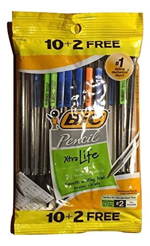 Bic Pencil - BIC Pencil Xtra Life, Medium Point (0.7mm), 12 Count