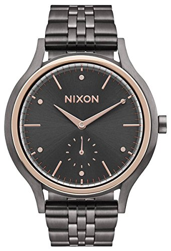 Nixon Womens The Sala Watch - Gunmetal Grey/Rose Gold