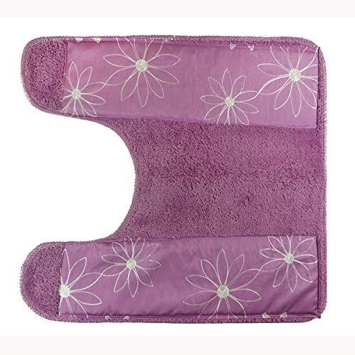 - Popular Bath Contour Bath Rug, Daisy Stitch Collection, Lilac