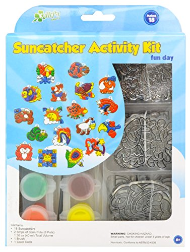 New Image Group SGP-08 Suncatcher Group Activity Kit, Fun Animal, 18-Pack