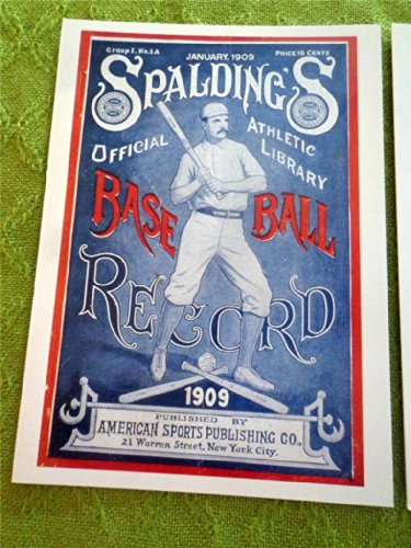 Stars & Strikes Vintage Greeting Post Card From 1994 Cover to Spaldings Baseball Record for 1909