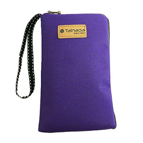 Women Universal Phone Wristlet Wallet Pouch, Tainada Dual Slots Zipper Purse Carry Case Bag for iPhone Xs Max, XR, Xs, Samsung S10, S10+, LG G8, Moto Z4, Google Pixel 3 XL, 3a (Purple)