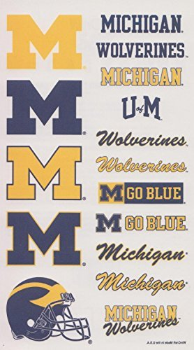 Michigan Wolverines NCAA Logos Temporary Tattoos