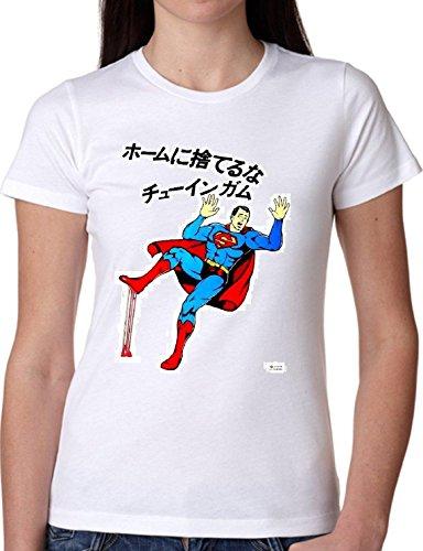 T SHIRT JODE GIRL GGG22 Z0759 SUPER HERO COMICS JAPAN CHEW FUNNY FASHION COOL BIANCA - WHITE L