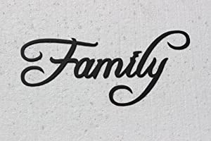 Family Word Home Decor Metal Wall Art