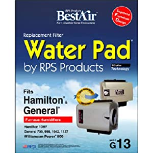 "BestAir G13, General/ Hamilton Replacement, Metal & Clay Water Pad, 10"" x 1.8"" x 12.4"""