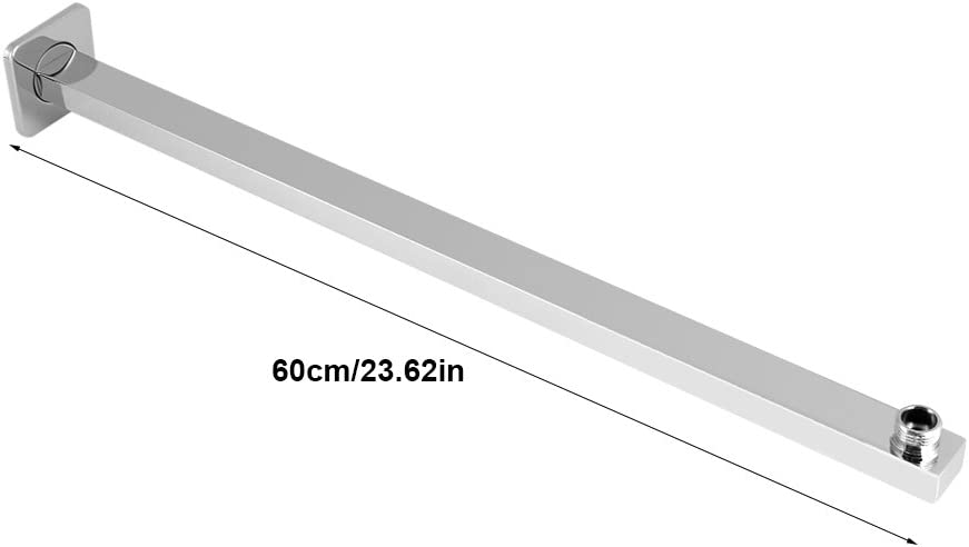 Shower Extension Arm 60cm Stainless Steel Extension Shower Arm for Shower Heads Wall Mounted Shower Head Arm