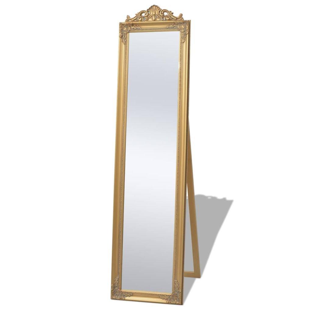 vidaXL Specchio Lungo Specchiera da Pavimento Stile Barocco 160x40cm Bianco