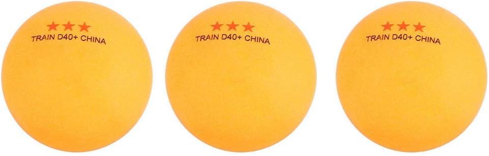 Keen so 3Pcs ABS 40+ mm Juego de Pelota de Ping Pong Juego de Pelota de Ping-Pong de 3 Estrellas Juego de Pelota de Tenis de Mesa con Bolsa de Transporte para Entrenamiento