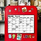 FridgeCalendarMagnetic Dry Erase Calendar Whiteboard 2019-20 Calendar for Kitchen Refrigerator Smart Planners 16.9