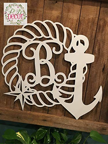 Personalized Beach Wedding Acrylic - Personalized Nautical Last Name Door Hanger - 24