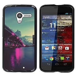 "For Motorola Moto X Motorola Moto X ( 1st Generation ) , S-type Naturaleza Pink City Ligts"" - Arte & diseño plástico duro Fundas Cover Cubre Hard Case Cover"